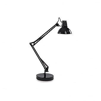 Ideal Lux Black Wally mesa lámpara Pixar estilo lámpara de mesa ajustable, negro