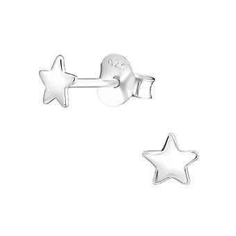 Star - 925 Sterling Silver pianura orecchini - W21755X