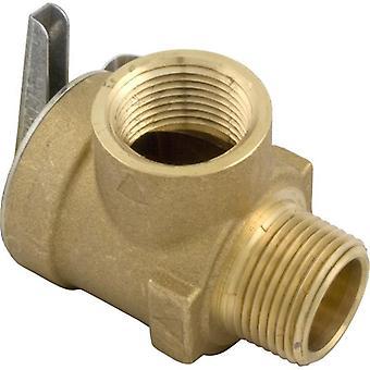 "Jandy Zodiac R0040400 3/4"" NPT 75 PSI Cast Iron Bronze Pressure Relief Valve"