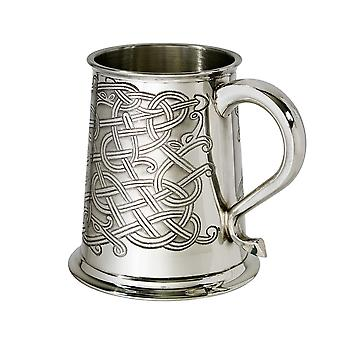 Celtic nod relief Pewter Tankard-1 halbă