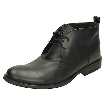 Mens Base London formale Ankle Boots Teak