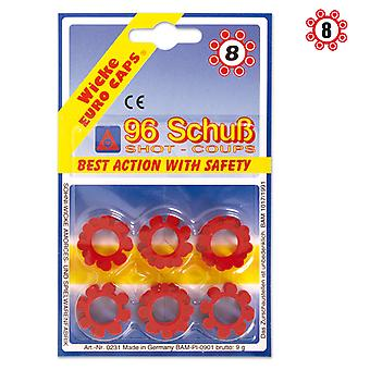 8 96 tiro municiones de anillo blister rifle pistola de juguete