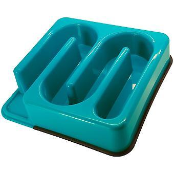 Slim-O-Matic Plastic Wavy Slow Feeding Bowl