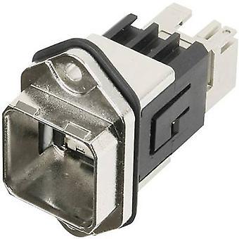 RJ45 flens set versie 14 Connector, mount aantal pins: 8P8C J80020A0010 metaal Telegärtner J80020A0010 1 PC('s)