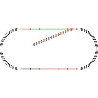 61101 H0 Roco GeoLine (incl. track bed) Expansion set