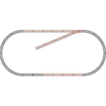 61101 H0 Roco GeoLine (incl. track bed) uitbreidingsset