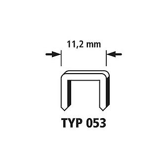 2000 broad back staples 2000 pc(s) Wolfcraft 7026000 Clip type 053 Dimensions (W x H) 11.2 mm x 6 mm