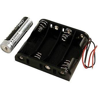 Hammond elektronikk BH4AAW batteriholderen 4 x AA plast svart 1 eller flere PCer