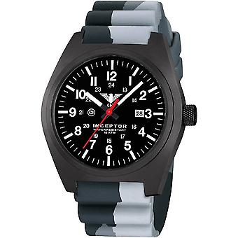 KHS mens watch interceptor black steel KHS. INCBS. DC1
