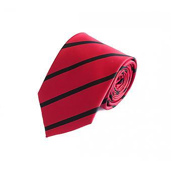 Schlips Krawatte Krawatten Binder 8cm rot schwarz gestreift Fabio Farini