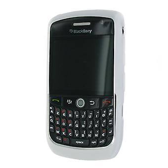 Blackberry Curve 8900 için OEM Böğürtlen Silikon Cilt Kılıfı - Clear White