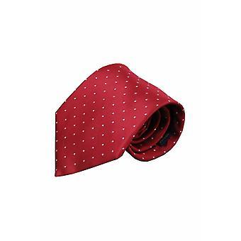 Rode zijden stropdas Gubbio 01
