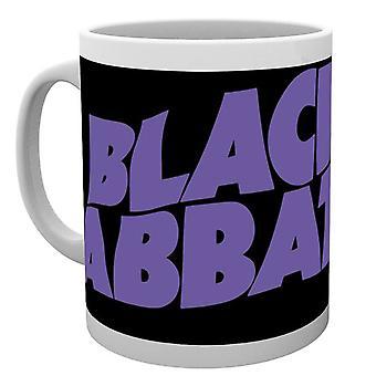 Officiella Black Sabbath Mugg klassiska Wavy Band Logo Ozzy Osbourne nya Boxed