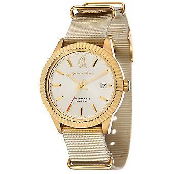 Spinnaker Bernard Automatic Watch - White/Gold