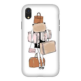 ArtsCase Designers Cases WOMAN WITH LUGGAGE for Tough iPhone Xr