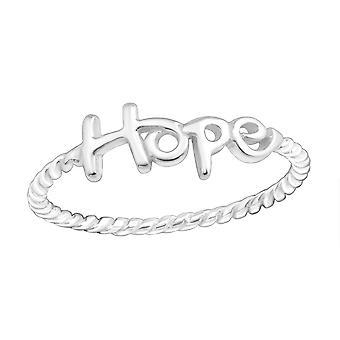 Hoffnung - 925 Sterlingsilber Plain Ringe - Schriftzug W15714X