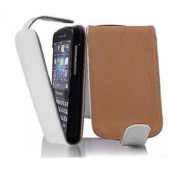 Cadorabo tilfelle for Blackberry Q10 tilfelle deksel - Flip telefon veske i teksturert faux skinn - Case Cover Beskyttende tilfelle Bok Folding Style
