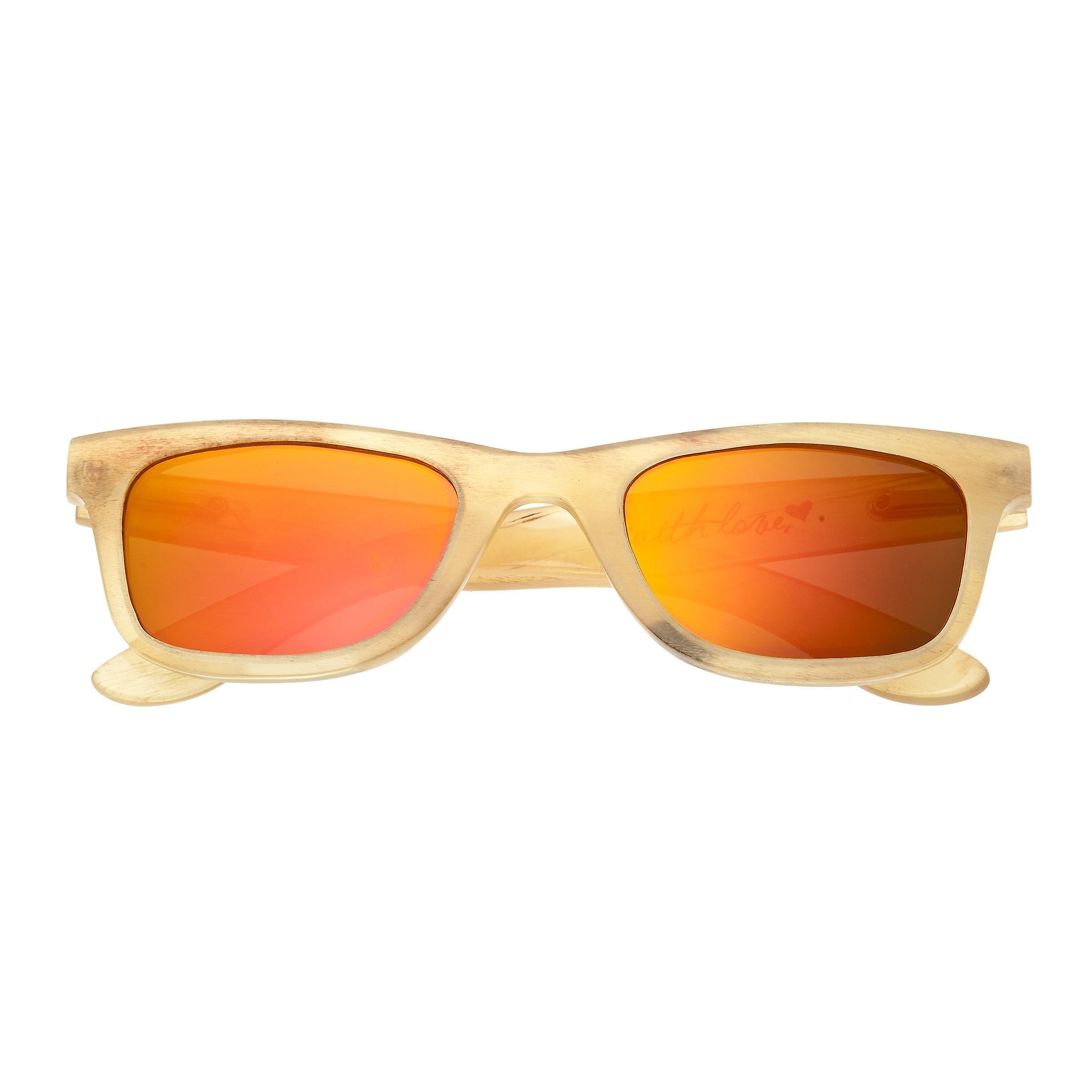Bertha Zoe Buffalo-Horn Polarized Sunglasses - Honey/Gold