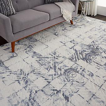 Urban Decor URD02 Ivory Blue  Rectangle Rugs Modern Rugs