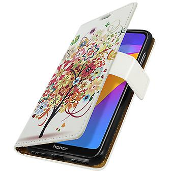 Case for Honor8A floweringtree pattern Support function Card-holder Multicolored