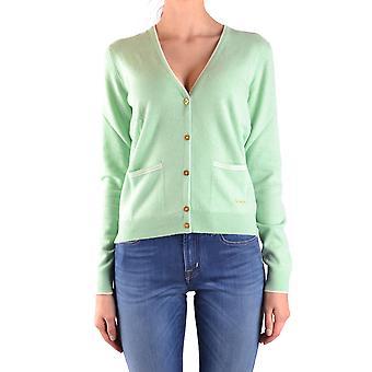Ballantyne Ezbc099023 Vrouwen's Green Cashmere Cardigan