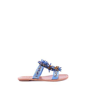 Tory Burch Ezbc074003 Women's Blue Leather Sandals