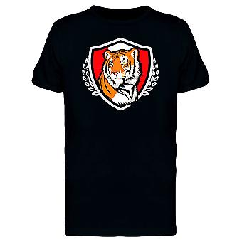 Bengal Tiger Schild Maskottchen T-Shirt Herren-Bild von Shutterstock