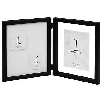 Juliana Plastic Double Photo Frame 5x7 - White