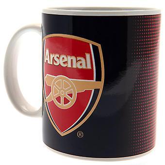 Arsenal FC Fade Design keraaminen muki painettu kortti Box
