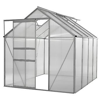 6x8 Ft Large Walk In Aluminium Greenhouse - Polycarbonaat Grow House for Garden