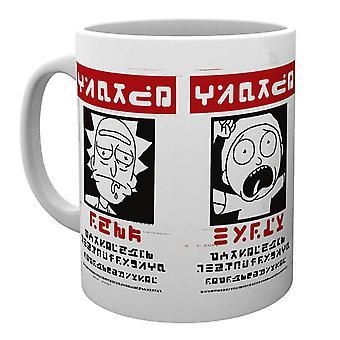 Rick i Morty Wanted Plakat Ceramiczny Kubek