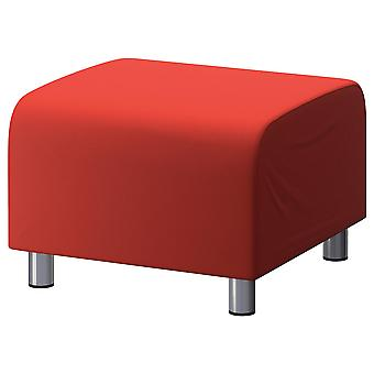Cotton Replacement Cover for Ikea Klippan Footstool - Red