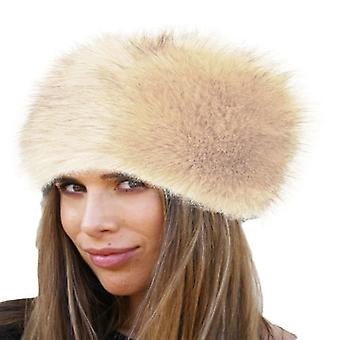 Women's faux fur winter warm russian style hat