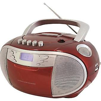SoundMaster SCD6900RO radio CD-speler FM-CD, tape rood