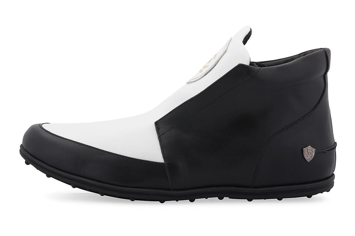 Black + White High Top