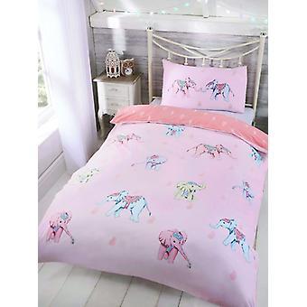 Ellie Elefant einzelne Bettbezug und Kissenbezug Set