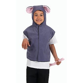 Bristol Novelty Childrens/Kids Mouse Hooded Tabard