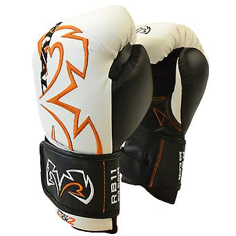 Rival Boxing Evolution Hook and Loop Bag Gloves - White