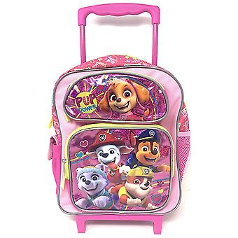 Small Rolling Backpack - Paw Patrol - PUP Power Pink 12