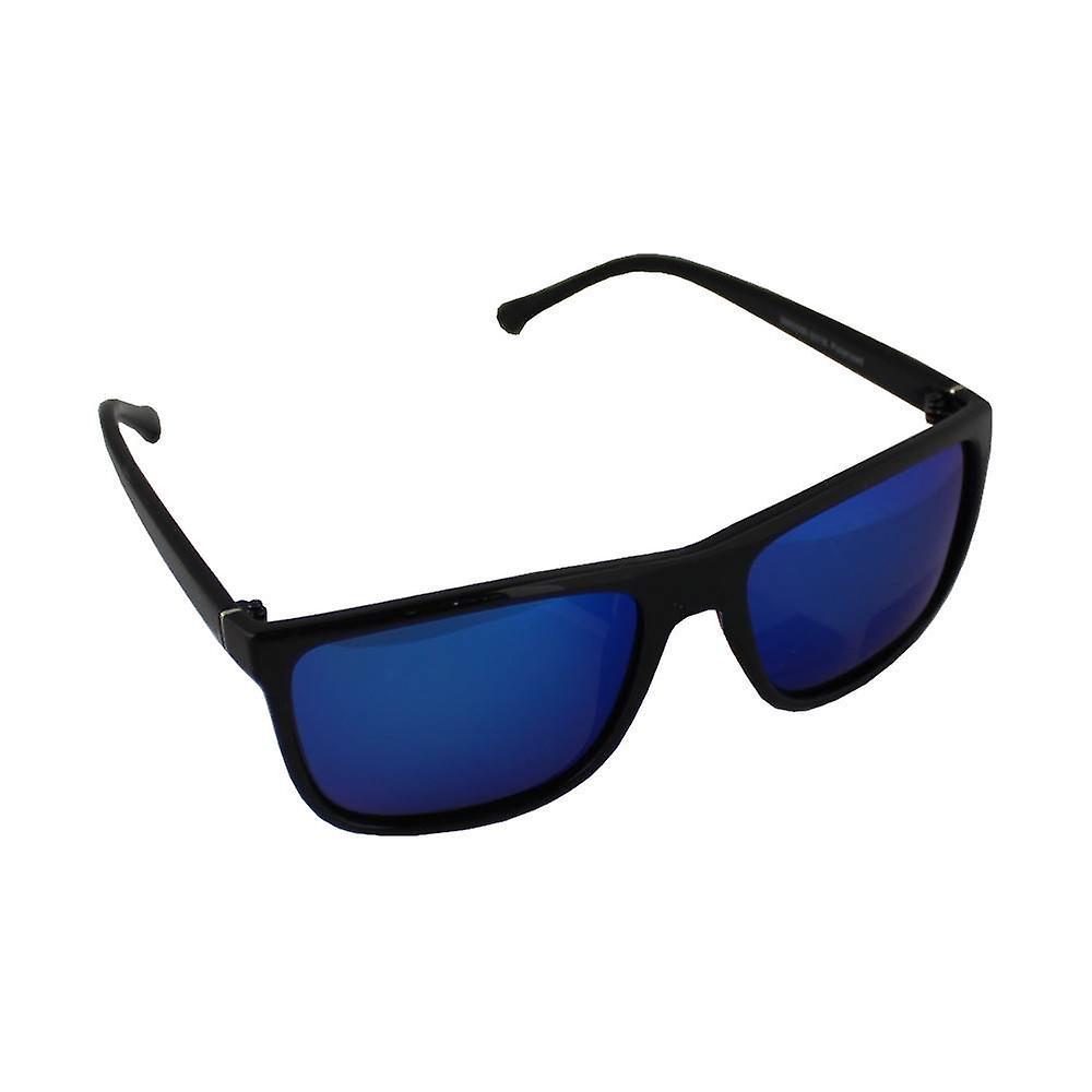 Solglasögon Aviator polariserande glas svart blå Gratis BrillenkokerS316_3