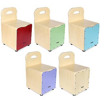 Stagg Kinder Cajon mit Rückenlehne - rot, grün, blau, violett oder natürlichen