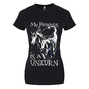 Grindstore Mein Patronus ist ein Einhorn Damen T-Shirt