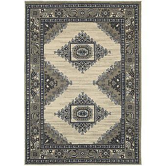 Highlands 6658b beige/grey indoor area rug rectangle 5'3