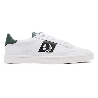 Fred Perry Deuce heren sneakers wit/Navy/Ivy leer