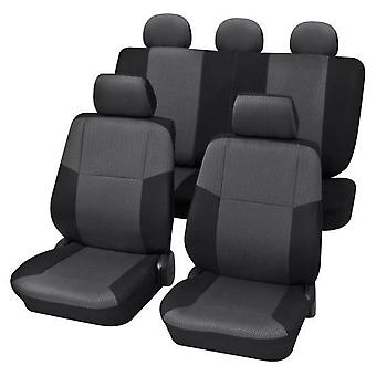 Charcoal Grey Premium Car Seat Cover set Pour Skoda FABIA 1999-2008