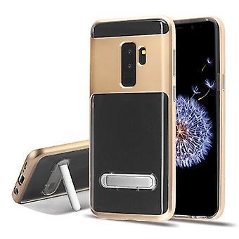 Gold/Transparent Clear Hybrid Protector Cover (w / Magnetischer Ständer) für Galaxy S9 Plus
