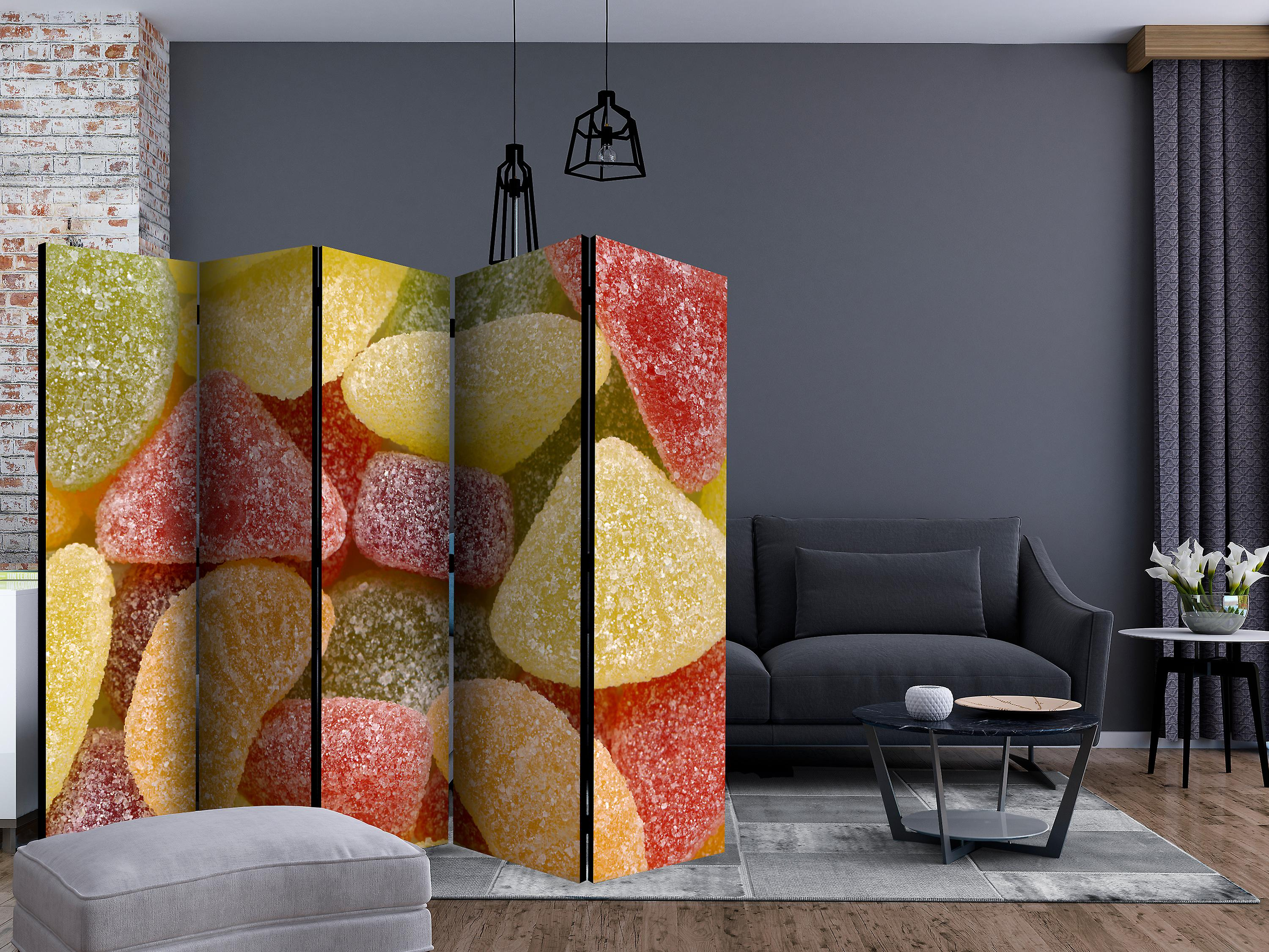Paravent 5 volets - Tasty fruit jellies [Room Dividers]