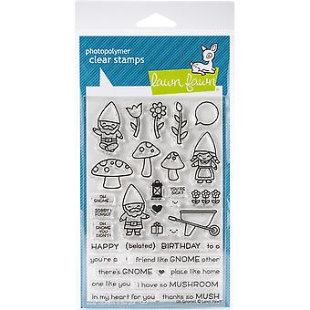 Lawn Fawn Oh Gnome! Clear Stamps