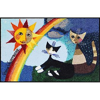 Rosina Wachtmeister doormat washable I colori dell Arcobaleno 50 x 75 cm