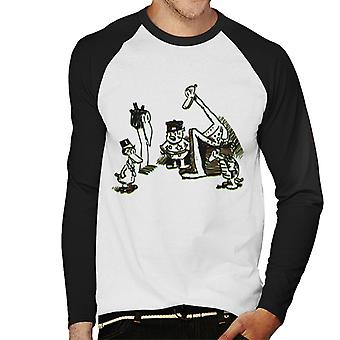 Krazy Kat Group Circle Uomini's Baseball T-Shirt a maniche lunghe